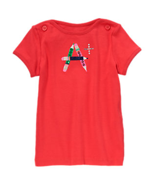 Poppy Red Sequin A+ Short Sleeve Tee by Gymboree