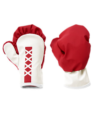 Red Mini Boxer Gloves by Gymboree