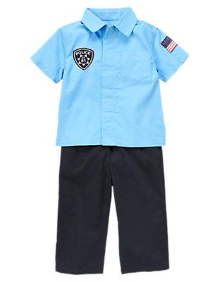 Blue/Black Tiny Police Cadet Costume by Gymboree