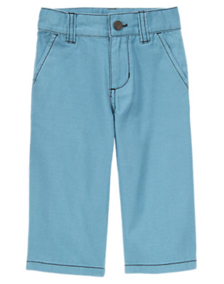 Dino Blue Chino Pant by Gymboree