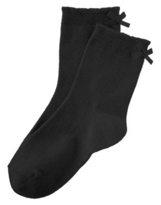 Girls Black Bow Sock by Gymboree