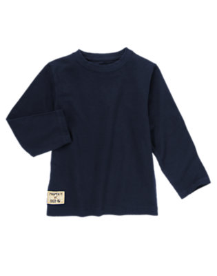 Boys Gym Navy Patch Tee by Gymboree