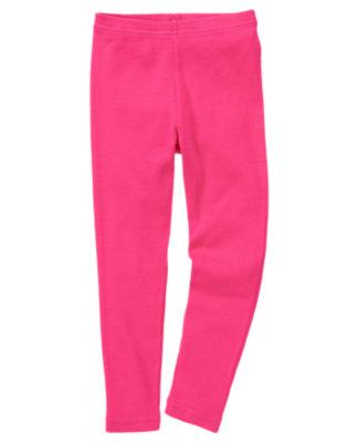 Girls Fuchsia Pink Legging by Gymboree