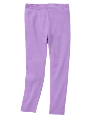 Girls Purple Petal Legging by Gymboree
