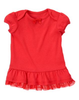 Ladybug Red Tulle Ruffle Hem Short Sleeve Tee by Gymboree