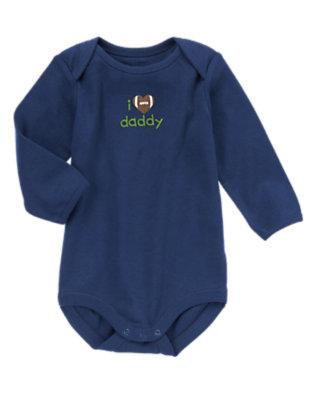 Baby Navy I Love Daddy Bodysuit by Gymboree