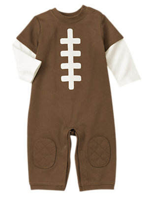 Baby Brown Football One-Piece by Gymboree