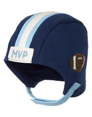 Baby Navy Football Helmet Hat by Gymboree