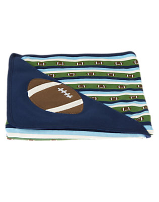 Baby Navy Football Blanket by Gymboree