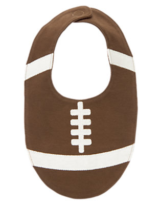 Baby Brown Football Bib by Gymboree