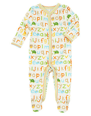 Baby Alphabet Alphabet Footed One-Piece by Gymboree