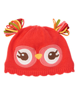 Baby Coral Blossom Owl Sweater Hat by Gymboree