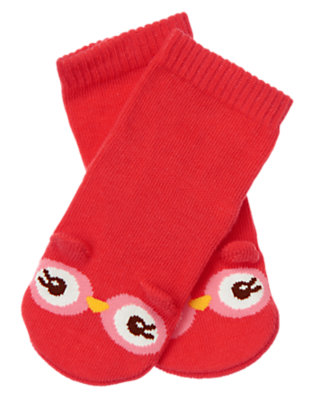 Baby Coral Blossom Owl Sock by Gymboree
