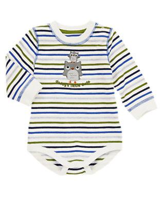 Cedar Green Stripe Daddy's Little Dude Stripe Bodysuit by Gymboree