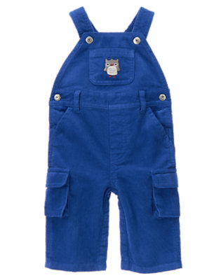 Baby Atlantic Blue Owl Corduroy Overall by Gymboree