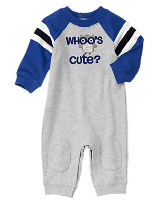 Baby Owl Grey Heather Whoo's Cute Owl One-Piece by Gymboree