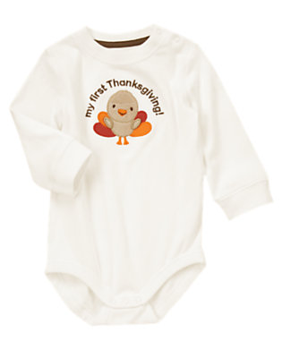 Baby Ivory My First Thanksgiving Bodysuit by Gymboree