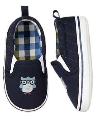 Baby Gym Navy Owl Crib Sneaker by Gymboree