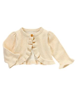 Baby Metallic Gold Metallic Crop Cardigan by Gymboree