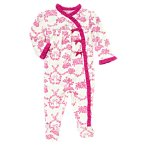 Toile Floral Footed One-Piece
