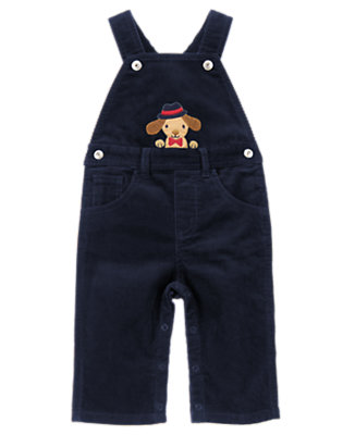 Baby Gym Navy Puppy Overall by Gymboree