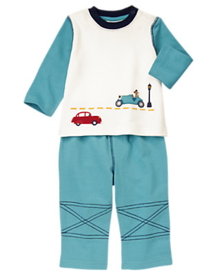 Baby Car Blue Cars Two-Piece Set by Gymboree