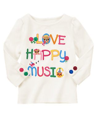 Ivory Love Happy Music Tee by Gymboree
