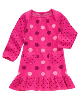 Toddler Girls Fuchsia Pink Dot Dot Sweater Dress by Gymboree