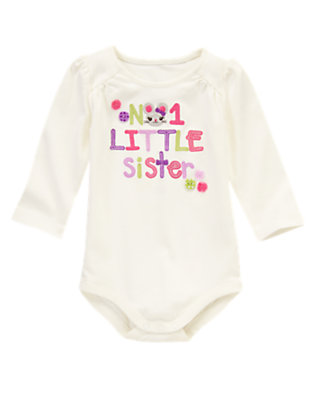 Ivory No. 1 Little Sister Bodysuit/Tee by Gymboree
