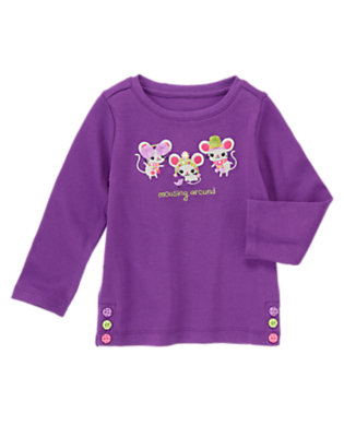 Playful Purple Mousing Around Tee by Gymboree
