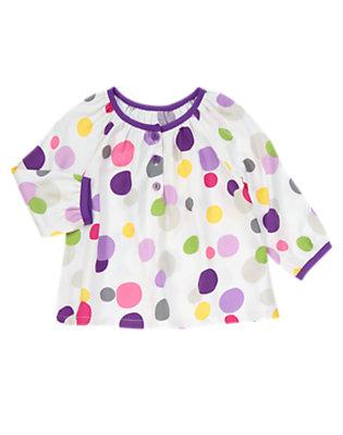 Toddler Girls Ivory Dot Swing Top by Gymboree