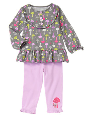 Toddler Girls Sweet Lavender Mushroom Mouse Two-Piece Set by Gymboree