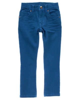 Boys Tower Blue Colored Stretch Jean by Gymboree