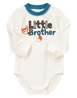 Toddler Boys Ivory Little Brother Fox Bodysuit/Tee by Gymboree