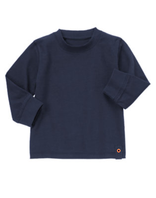Toddler Boys Navy Grommet Tee by Gymboree
