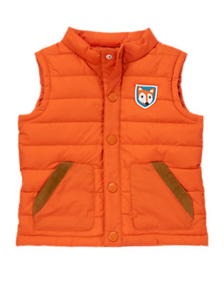 Toddler Boys Fox Orange Fox Puffer Vest by Gymboree