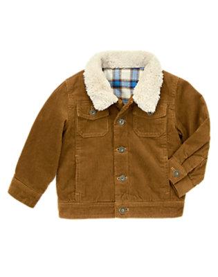 Elk Brown Corduroy Barn Jacket by Gymboree