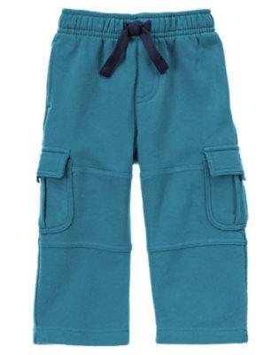 Toddler Boys River Blue Fleece Cargo Active Pant by Gymboree