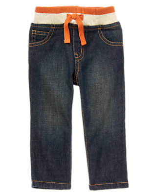 Denim Ribbed Waist Pull-On Jean by Gymboree