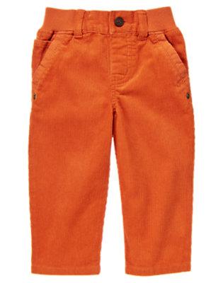 Toddler Boys Fox Orange Ribbed Waist Corduroy Pant by Gymboree