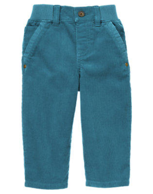 River Blue Ribbed Waist Corduroy Pant by Gymboree