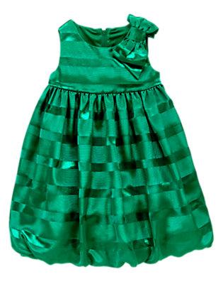 Toddler Girls Emerald Green Gem Ottoman Stripe Dress by Gymboree