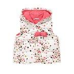 Sparkle Star Hooded Puffer Vest