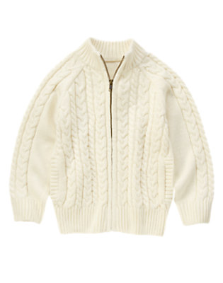 Holiday Ivory Cable Sweater Cardigan by Gymboree