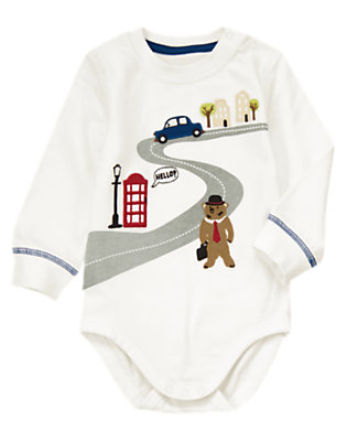 Ivory London Bear Bodysuit/Tee by Gymboree