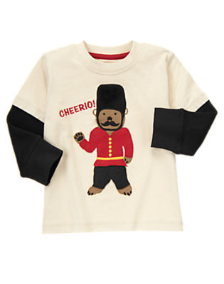 Toddler Boys Sand London Bear Guard Tee by Gymboree