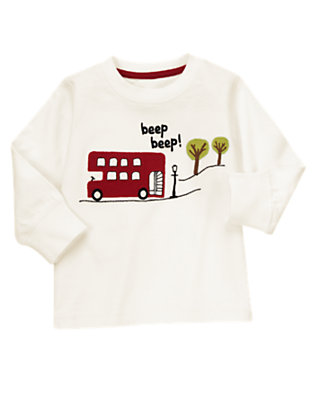 Toddler Boys Ivory Beep Beep! London Bus Tee by Gymboree