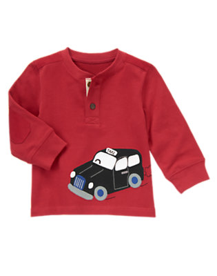 London Red Taxi Henley Tee by Gymboree