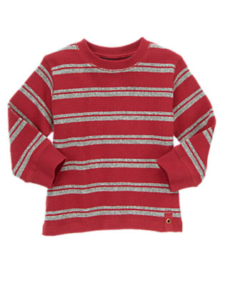Toddler Boys London Red Stripe Thermal Tee by Gymboree