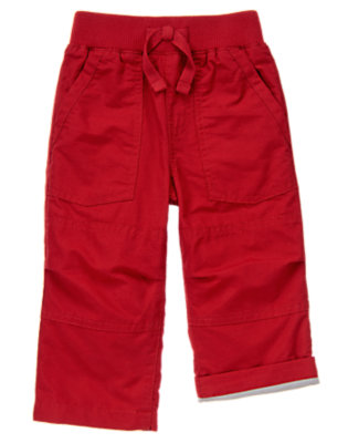 Toddler Boys London Red Jersey Lined Active Pant by Gymboree